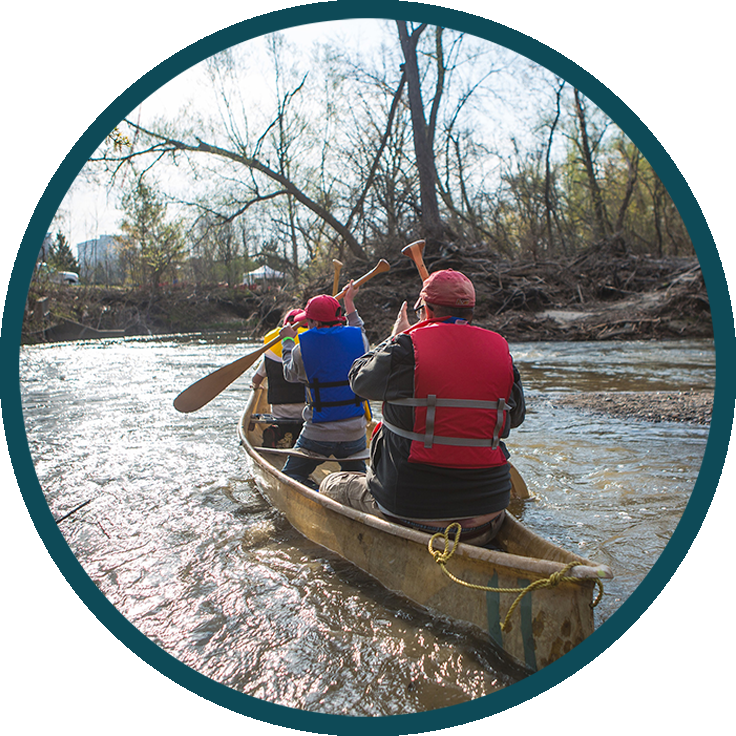 paddlers on Don River
