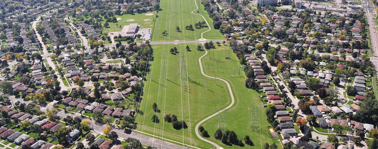 aerial view of The Meadoway
