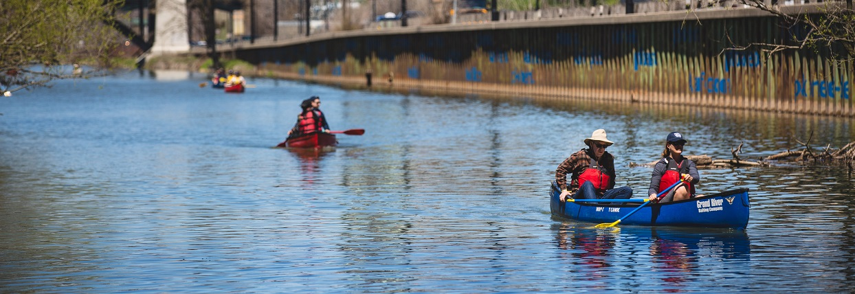paddlers on the Don River