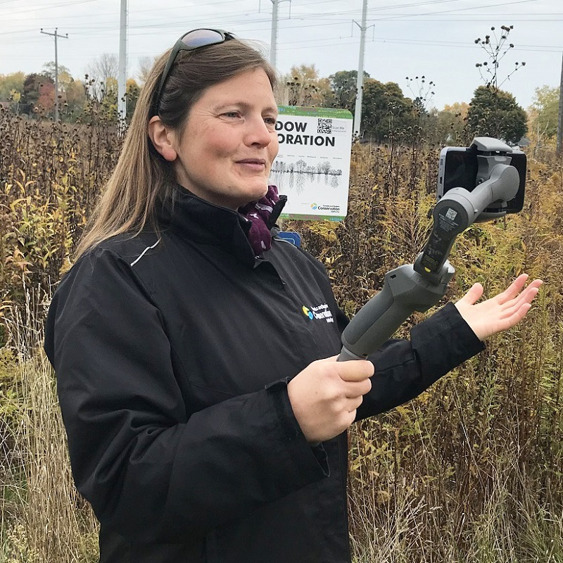 TRCA educator conducts live stream session in The Meadoway