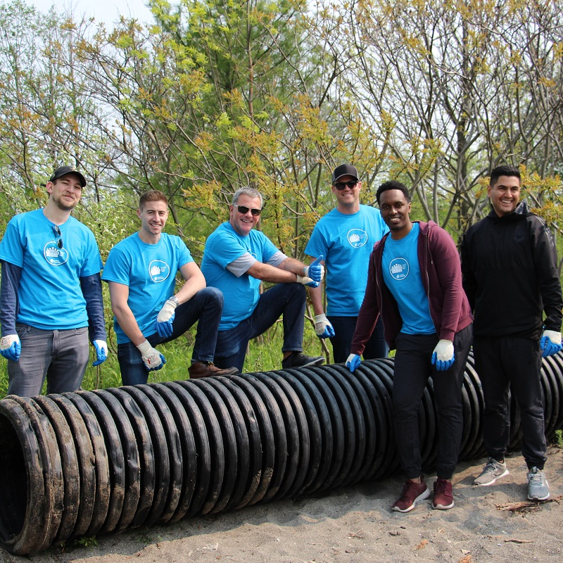 corporate team participates in Look After Where You Live cleanup engagement event