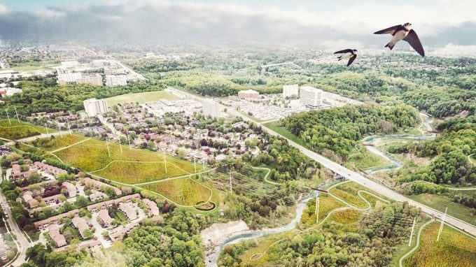 A rendering of The Meadoway