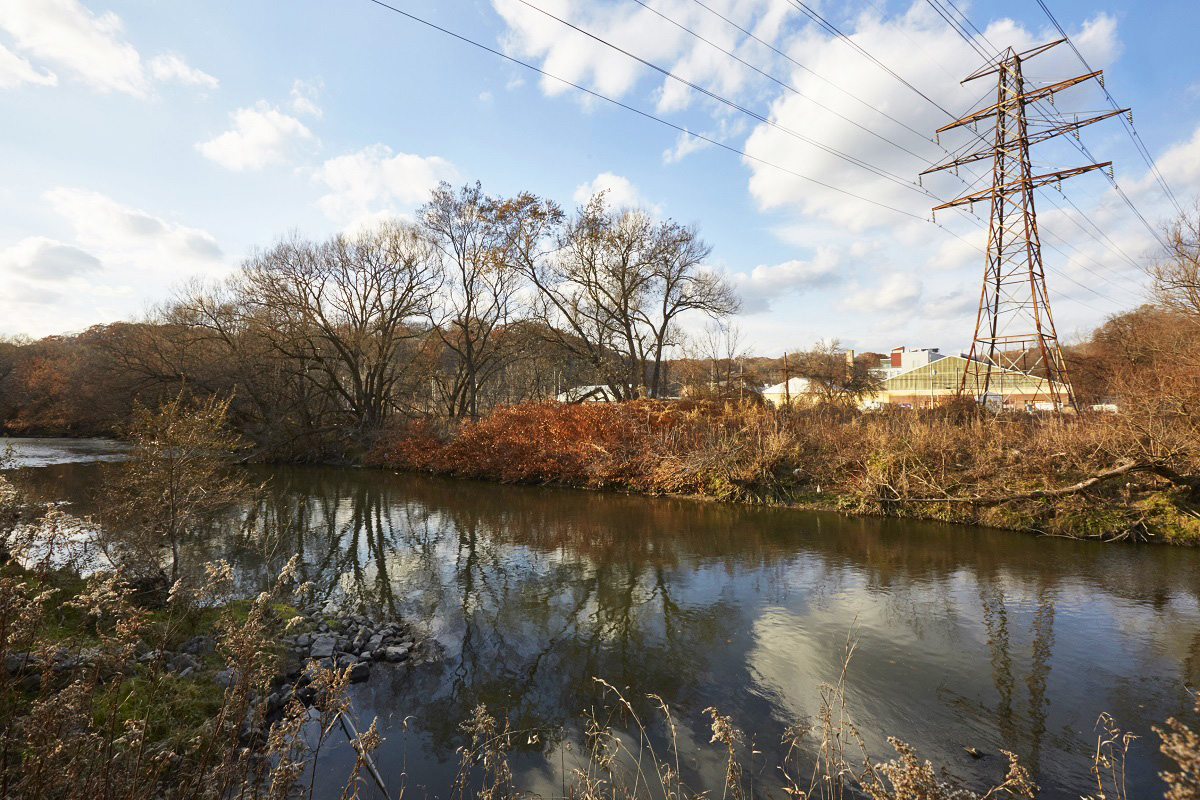 view of the Don River in Toronto