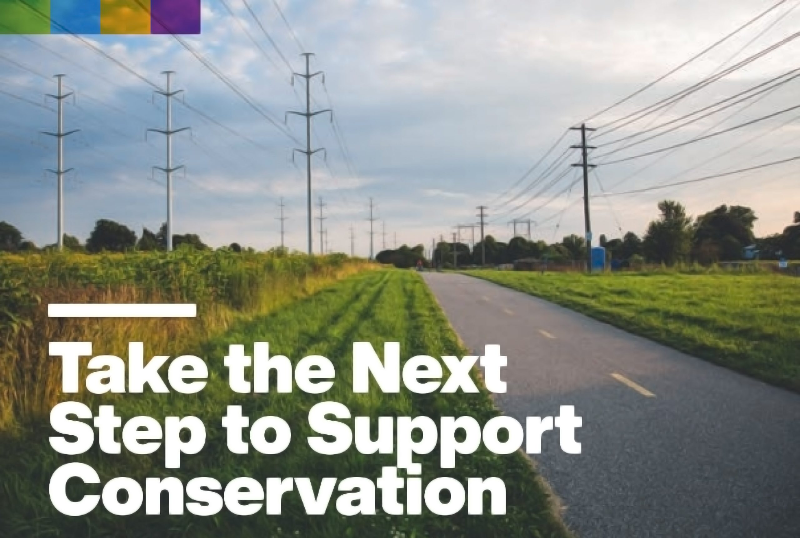 Take the next step to support conservation graphic