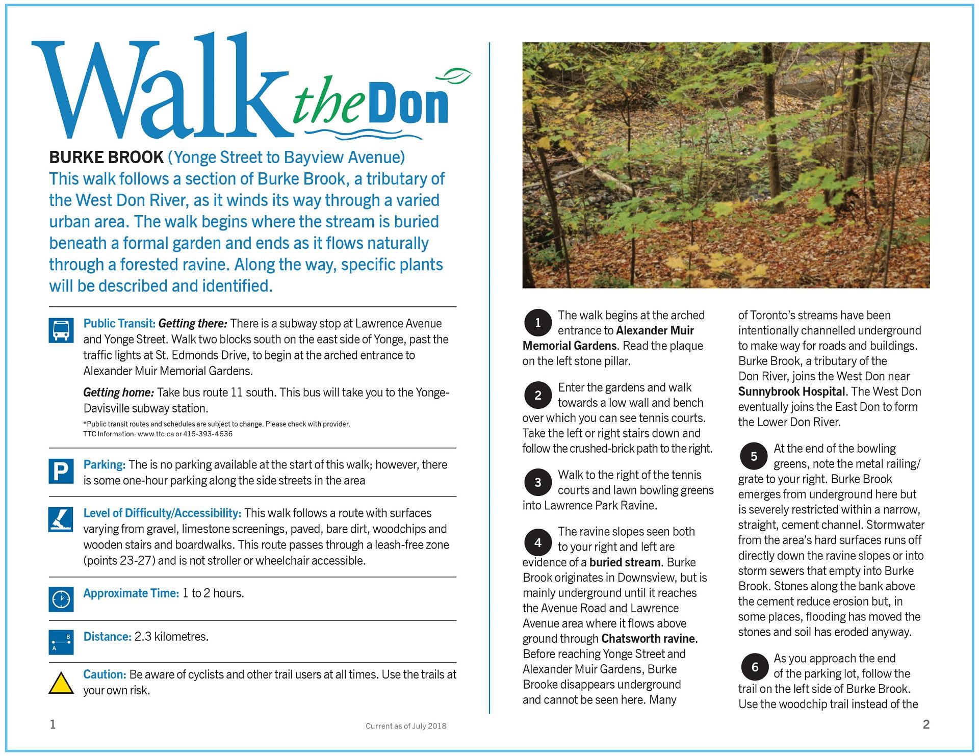 Walk the Don - Burke Brook Trail Guide