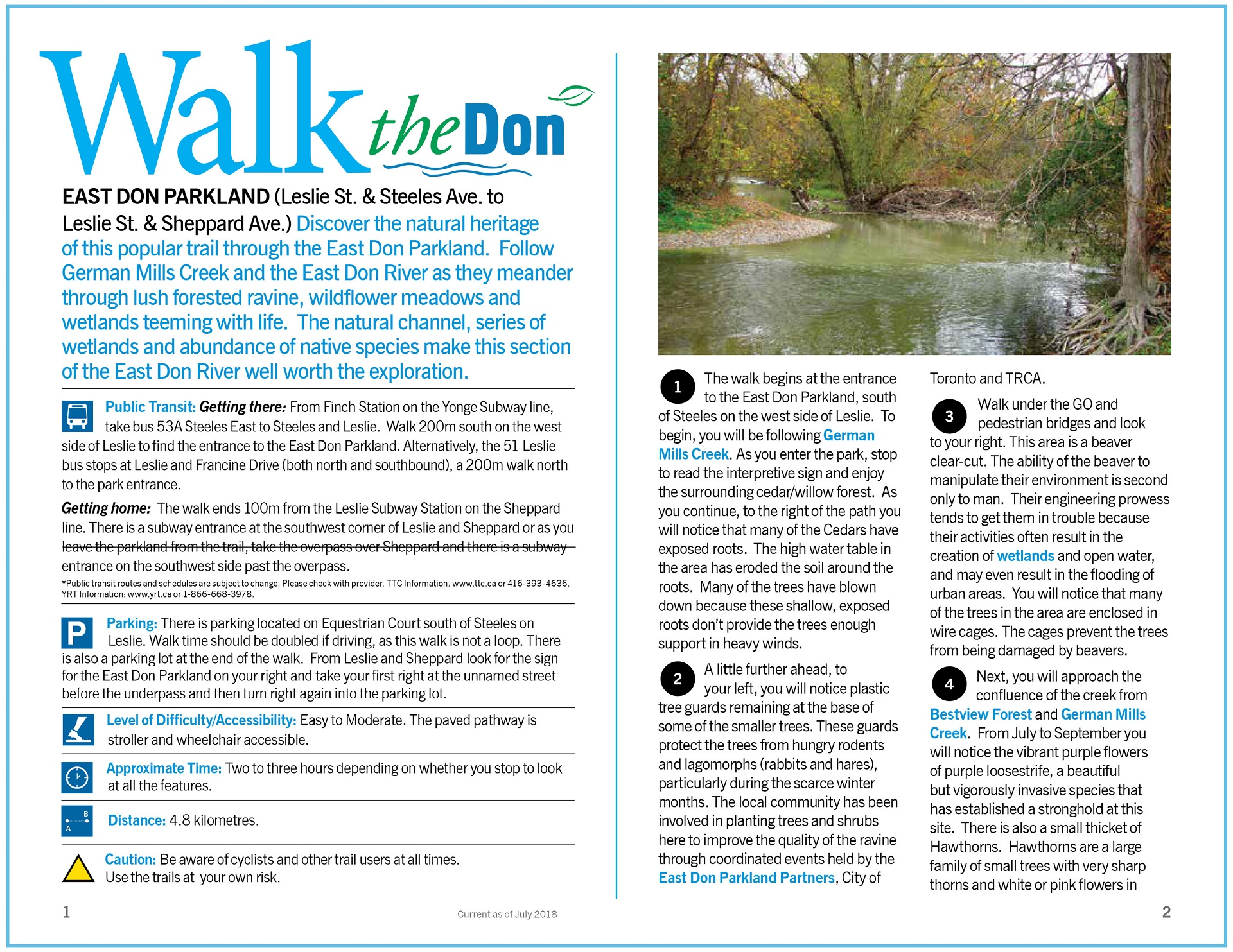 Walk the Don - East Don Parkland Trail Guide