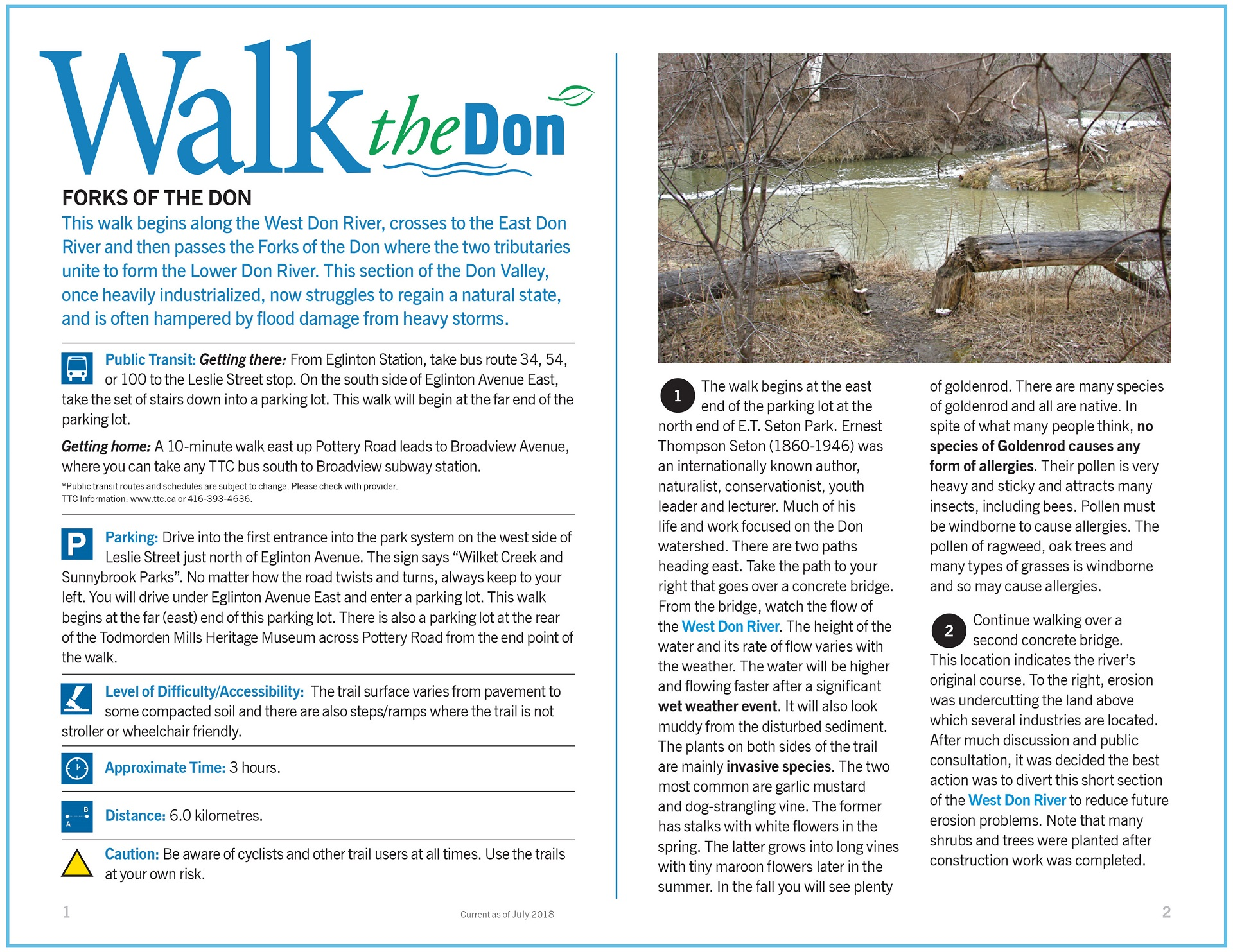 Walk the Don - Forks of the Don Trail Guide