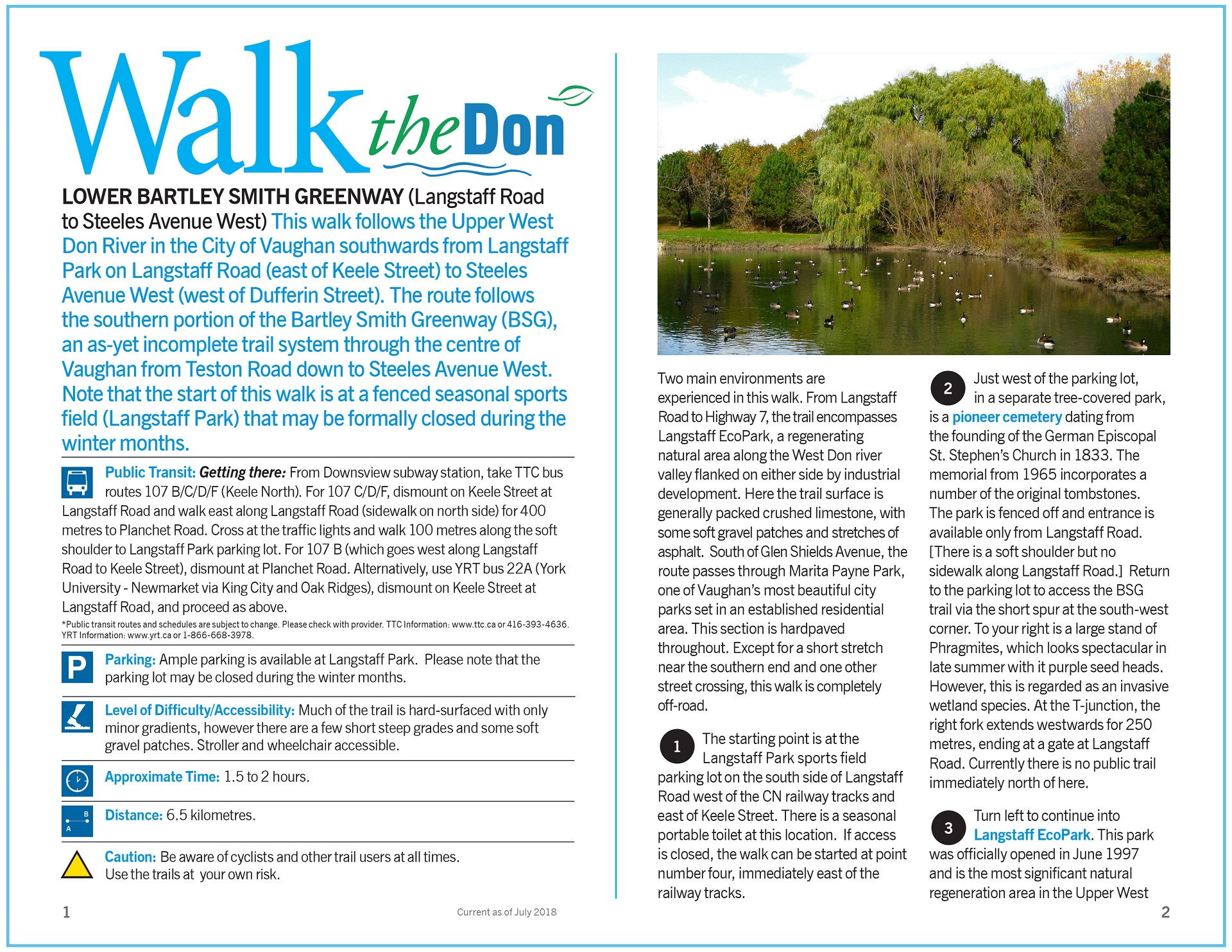 Walk the Don - Lower Bartley Smth Greenway Trail Guide