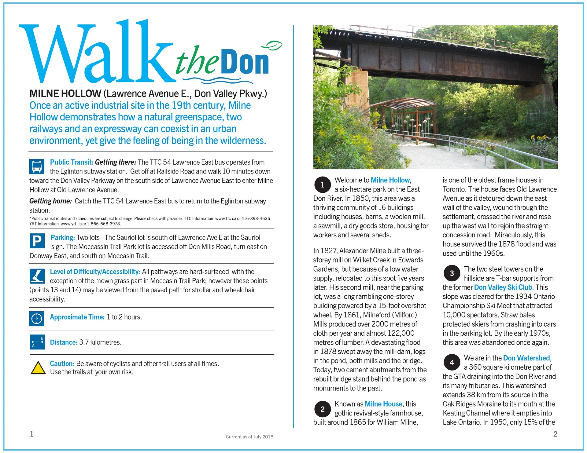 Walk the Don - Milne Hollow Trail Guide