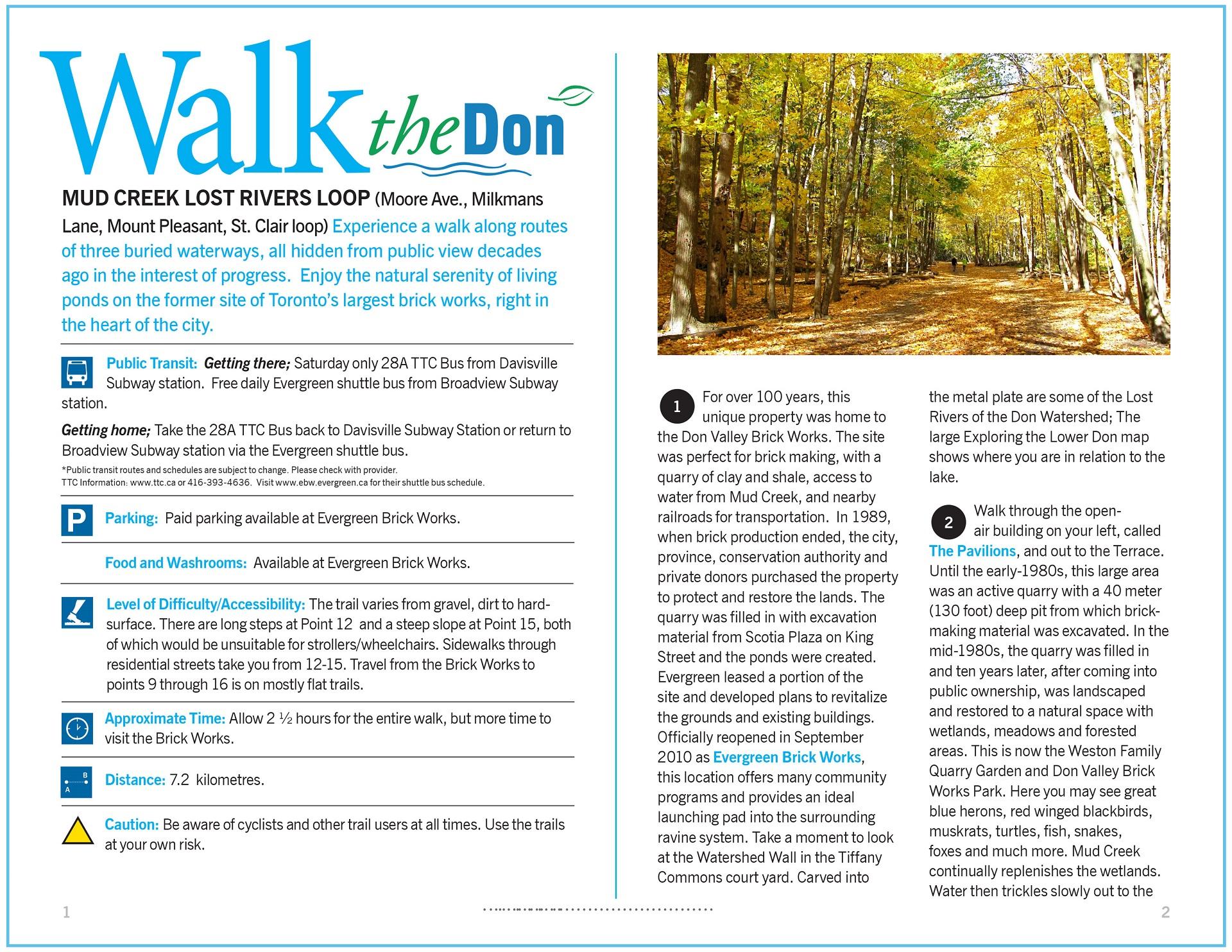 Walk the Don - Mud Creek Lost Rivers Loop Trail Guide