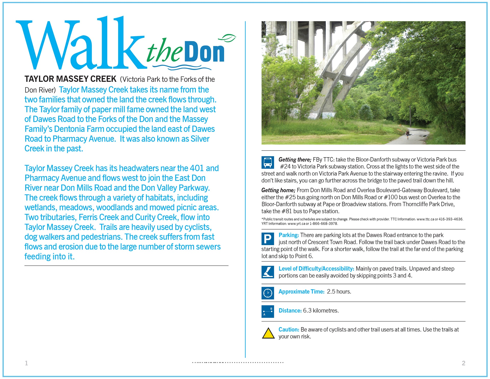 Walk the Don -Taylor Massey Creek Trail Guide